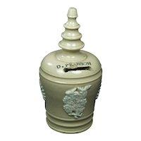 19th Century English Folk Art Beehive Money Jar Pearsons & Co Chesterfield Circa 1860