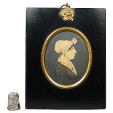19th Century Rare Georgian J H Gillespie Portrait Miniature Regency Lady Circa 1820