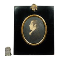 19th Century Georgian J H Gillespie Portrait Miniature Gentleman Circa 1820