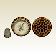 Rare Tunbridge Ware Compass, Thomas Barton, Treen Circa 1865