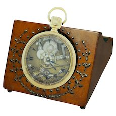 Georgian French Pocket Watch Holder Palais Royal Cut Steel Watch Hutch C 1821