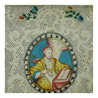 18th Century French Cut Paper Picture, Canivet, Paper Cut Holy Card, Provenance Noel Riley C 1790