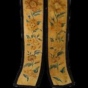 Rare Early 19th Century Velvet Theorem Curtain Tie Backs Bell Pull Pair Circa 1830 Georgian