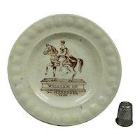 Rare 1830s Miniature Toy Plate, Jacobite Interest 'No Surrender', Williamite Irish Protestant Catholic