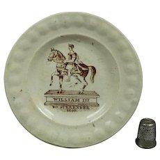 Rare William III Miniature Childs Plate 'No Surrender' Political Jacobite Williamite Irish Protestant Catholic Interest Circa 1830