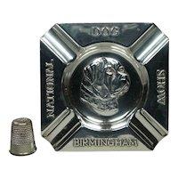 Solid Sterling Silver Dog Show Trinket Tray 1936 English Mastiff, Maker Birmingham Guild of Handicraft