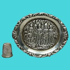 Victorian Boer War Sterling Silver Pin Tray C 1900 James Deakin & Sons Father's Day Gift