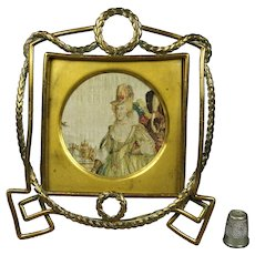Wonderful 19th Century French Empire Photo Frame Wreath Design Circa 1870 Napoleon III