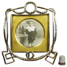 STUNNING Original 19th Century French Empire Photo Frame Wreath Design Circa 1870 Napoleon III