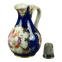 Georgian Coalport Porcelain Miniature Jug Gilt Floral Regency Circa 1820 AF