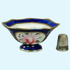 19th Century Coalport Porcelain Miniature Dolls Bowl Floral Regency Circa 1820 Georgian