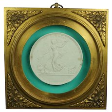 19th Century Grand Tour Cameo Plaster Intaglio Stunning French Gilt bronze Dore Frame Germanis