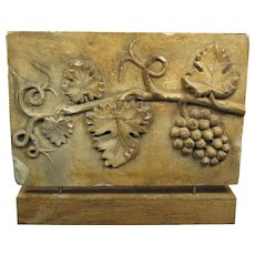 19th Century French Plaster Mold  Vine Leaf  circa 1890