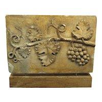 Antique 19th Century French Decorative Plaster Mold  Vine Leaf  circa 1890