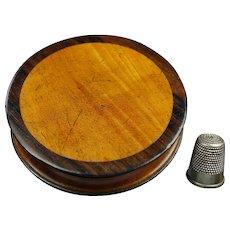 19th Century English Circular Snuff Box Wonderful Coloring and Patina Georgian Circa 1830