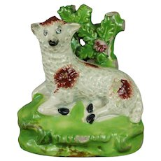 Early 19th Century Staffordshire Sheep Ewe Bocage Figure Circa 1820 Georgian AF