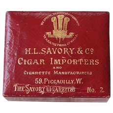 19th Century Red Faux Leather Box H L Savory & Co Circa 1899 Royal Warrant