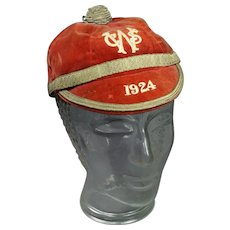 British Sporting Velvet Rugby Union Honours Cap 1924 Welsh Civil Service