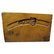 19th Century Boxwood Composition Mould Rare Buckle Strap Design Circa 1850