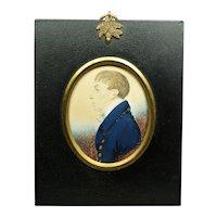 Regency 19th Century Gillespie Portrait Miniature William Hugh Wade-Gery Important Family Circa 1815