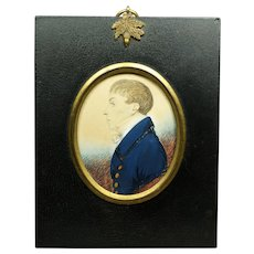 Regency 19th Century Gillespie Portrait Miniature William Hugh Wade-Gery Important Family Circa 1815