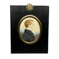 Early 19th Century J H Gillespie Portrait Miniature, Reverend Hugh Wade-Gery, English Circa 1815