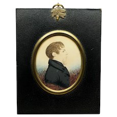 Early 19th Century J H Gillespie Portrait Miniature of Thomas Wade-Gery, English Regency Circa 1815