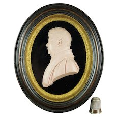 Early 19th Century Rare Wax Portrait Profile By Thomas R. Poole Georgian Ecclesiastical Gentleman 1817