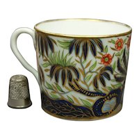 RARE Circa 1810, English Thomas Rose Coalport Porcelain Coffee Can Cup,  Pattern 564, Imari Palette