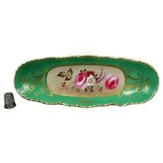 Beautiful 19th Century English Porcelain Floral Pen Tray Circa 1820 Georgian