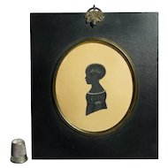 19th Century English Little Boy Portrait Silhouette Henry John Ffoulkes Taylor Circa 1831