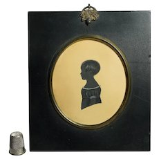 19th Century English Little Boy Portrait Silhouette Henry John Ffoulkes Taylor Circa 1831 (Item 12911)
