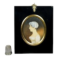 Early 19th Century Portrait Miniature Pretty Georgian Lady Circa 1800 Jane Austen Era