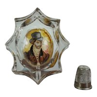 18th Century, Circa 1790, Salt Cellar, Trinket Dish, Georgian Dandy Bride Groom, Zwischengoldglas AF