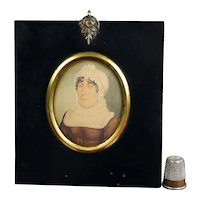 Early 19th Century Portrait Miniature Regency Lady, Georgian Circa 1810