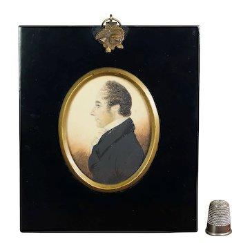 19th Century J. H. Gillespie Portrait Miniature, Doctor Mellor Of Coventry, England Circa 1820 Gentleman