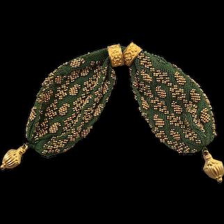 Antique Regency  Purse, Netted Gilt Beadwork, Marvellous Quality, Circa 1815