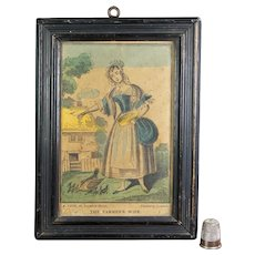 19th Century Miniature Nursery Print By A. Park Rural Farming, Countryside C 1830
