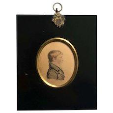 Regency Portrait Miniature Of Boy Henry Allen, by A R Burt 1817 Oxford, England