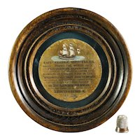 UNIQUE 19th Century Captain George Shelvocke Commemorative Plaque Circa 1880 Victorian