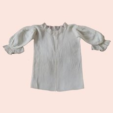 18th Century Linen Baby Shirt, Infants Undershirt, English Circa 1750, RARE Museum Quality, 1700's Binche Lace