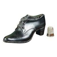 RARE English 19th Century Miniature Shoe and Last, Apprentice Cordwainer Item Circa 1855