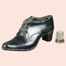 RARE English 19th Century Miniature Shoe and Last, Apprentice Cordwainer Item Circa 1855