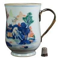 18th Century Chinese Imari Tankard Make Do Handle Qianlong Period C 1760 AF