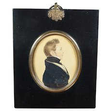 Fabulous 19th Century Portrait Miniature Handsome Georgian Gentleman George Trotter- Cranstoun Scottish Mill Owner, 1823