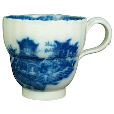 Early Georgian 19th Century Blue And White Coffee Cup, Chinoiserie, Circa 1800