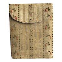 18th Century Georgian Pocket Book, Purse, Sewing Companion, Card Case, Hussif, Letter Case, Needle Case, Circa 1780