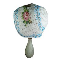 Rare Early 19th Century Knitted Beadwork Cap, Beaded Infants Bonnet, Circa 1830, Georgian
