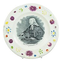 19th Century John Wesley Childs Nursery Plate, Methodist Sunday School Plate,  Circa 1830