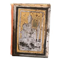 Rarest Early 19th Century Carnet De Bal, Dance Card Holder, Cut Steel and Gilt, Niello, Tula Ware C 1840